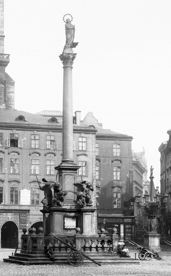downloadPhoto Rome Newsroom, Jun 15, 2020 / 05:30 am (CNA).- A historic statue of Mary atop a column, torn down by an angry crowd more than 100 years ago, has been restored to its original site in Prague.